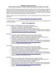 Curriculum Materials Options - Diocese of Joliet