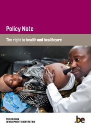 Policy Note 'The right to health and healthcare' - Belgium
