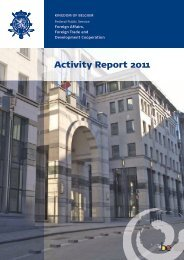 Activity Report 2011 Foreign Affairs - Belgium