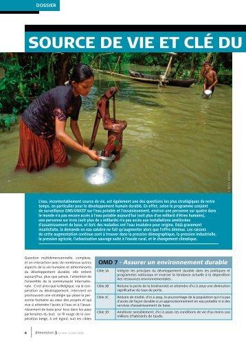Dimension 3: dossier sur l'eau