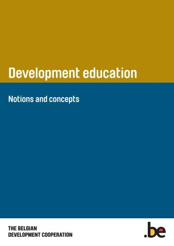 Development education. Notions and concepts (PDF ... - Belgium