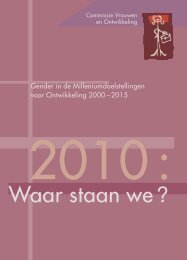 Gender in de Millennium Ontwikkelingsdoelstellingen 2000-2015 ...