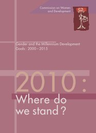 Gender and the Millennium Development Goals: 2000 ... - Belgium