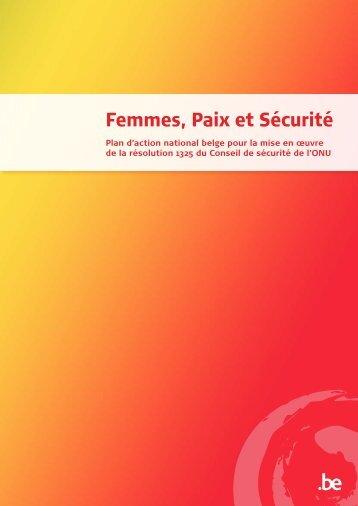 Plan d'Action belge pour la mise en œuvre de la Résolution 1325