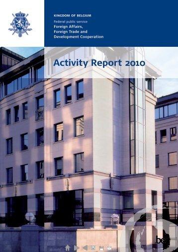2010 (PDF, 5.17 MB) - Buitenlandse Zaken - Belgium