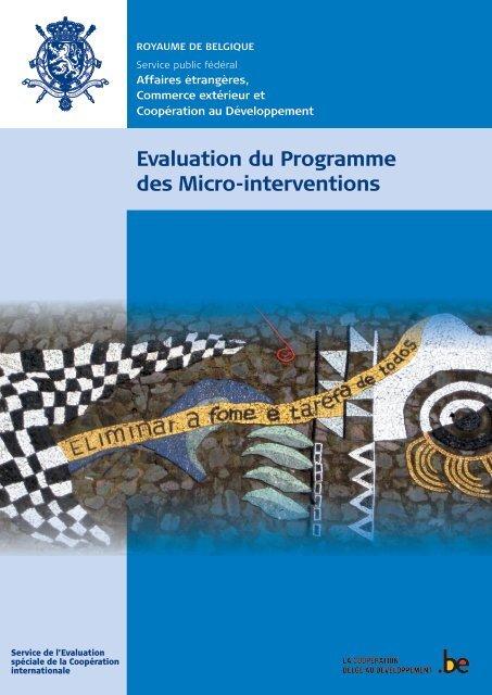 Evaluation du Programme des Micro-interventions - Belgium