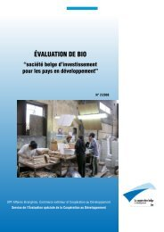 Evaluation de BIO - Buitenlandse Zaken - Belgium