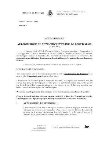 demande d autorisation de detention d une arme a feu