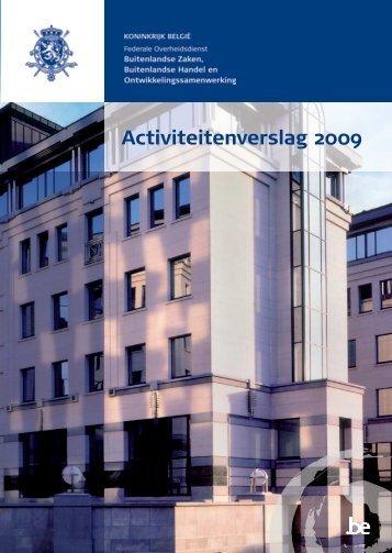 2009 (PDF, 11.58 MB) - Buitenlandse Zaken - Belgium