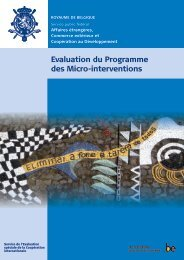 Evaluation du Programme des Micro-interventions - Belgium
