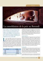 La consolidation de la paix au Burundi (PDF, 431.72 Kb)