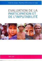 Etude de cas pays en République Démocratique du Congo