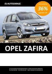 OPEL Zafira - Eu-Autogarage