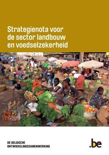 """Strategienota """"Landbouw en voedselzekerheid"""" - Buitenlandse ..."""
