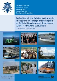 Evaluation of the Belgian instruments in support of foreign trade ...