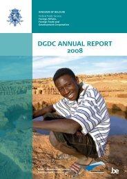 DGDC Annual report 2008 - Buitenlandse Zaken - Belgium