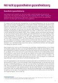 """Beleidsnota """"Het recht op gezondheid en gezondheidszorg"""" (PDF ... - Page 5"""