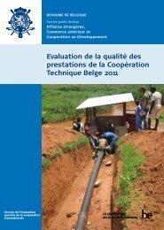 Evaluation de la qualité des prestations de la Coopération ... - Belgium