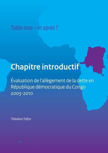Chapitre introductif du Dr. Théodore Trefon - Belgium