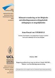 Jean-Pascal van Ypersele - Buitenlandse Zaken - Belgium
