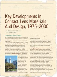Key Developments in Contact Lens - Review of Optometry