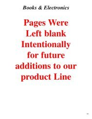 Pages Were Left blank Intentionally for future additions to our ...