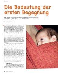 Die Bedeutung der ersten Begegnung - Hebammen für Deutschland