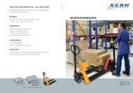WIEGEHUBWAGEN - KERN & SOHN GmbH
