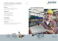 PLATTFORMWAAGEN - KERN & SOHN GmbH