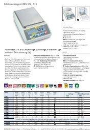 Präzisionswaagen KERN 572 - KERN & SOHN GmbH