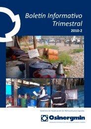 Boletín Informativo Trimestral - Organismo Supervisor de la ...