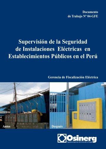 Supervisión de la Seguridad de Instalaciones Eléctricas en ...