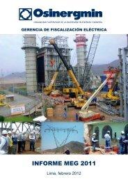 INFORME MEG 2011 - Organismo Supervisor de la Inversión en ...