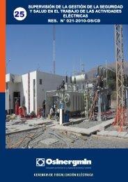 Folleto del P-091 - Organismo Supervisor de la Inversión en Energía ...