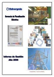 Informe año 2006 - Organismo Supervisor de la Inversión en ...