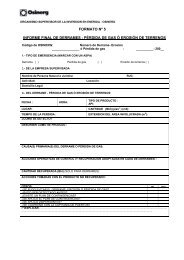 formato 5 informe final de derrames - Organismo Supervisor de la ...
