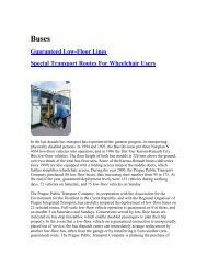 Guaranteed Low-Floor Lines Special Transport Routes For - Osmose