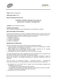 Dresden mobility strategy focusing on operational mobility ... - Osmose