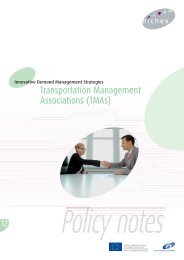 Policy note on Transportation Management Associations (TMAs)