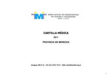 CARTILLA MÉDICA - OSMTT