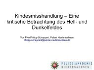 Kindesmisshandlung – Eine kritische Betrachtung des Hell- und ...