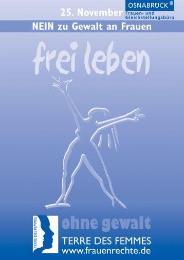 """Flyer """"NEIN zu Gewalt gegen Frauen und ... - Stadt Osnabrück"""