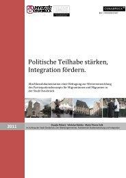 Politische Teilhabe stärken, Integration fördern. - Stadt Osnabrück