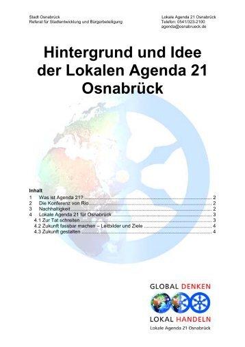 Hintergrund und Idee der Lokalen Agenda 21 ... - Stadt Osnabrück