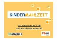 PDF Kindermahlzeit - Projekt der Kath. FABI und ... - Stadt Osnabrück