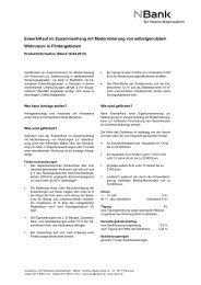 Erwerb/Kauf im Zusammenhang mit Modernisierung ... - bei der NBank