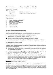 Protokoll der Sitzung 01/6 vom 25. Oktober 2001