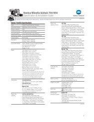bizhub C35 Configuration Sheet