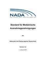 Standard für Medizinische Ausnahmegenehmigungen