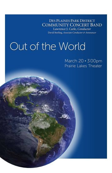 Out of the World - Des Plaines Park District